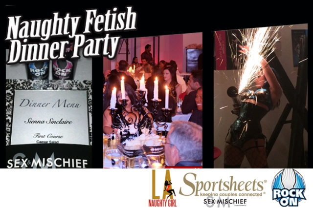 Fetish Dinner Party with sponsors Rock On & Sportsheets
