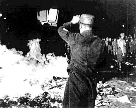 Nazi's destroyed the Institute for Sexual Research and burned all of its books losing tons of research.